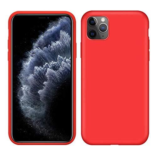 Carcasa de silicona líquida original para Apple iPhone 11 Pro Max 7 8 6 6S Plus XR X XS MAX 5 5S SE 11 carcasa a prueba de golpes, color rojo