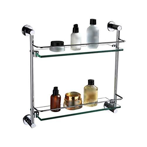 XJJZS Nivel 2 Baño estantes a Prueba de Herrumbre de Almacenamiento en Rack de baño con toallero Baño