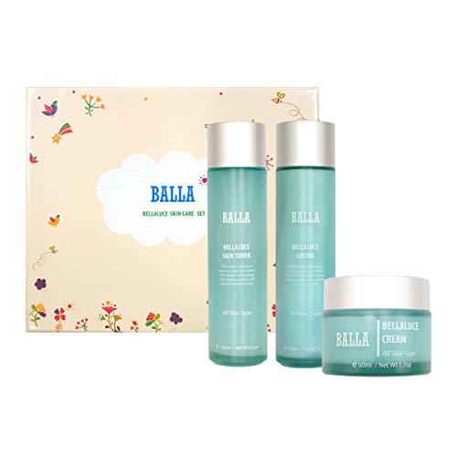 Balla Basic Face Care Skin Toner, Cream, Lotion Cosmetic Set