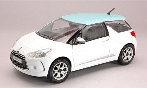 CITROEN DS3 2010 WHITE/AZUR 1:24 Burago Auto Stradali modello modellino die cast
