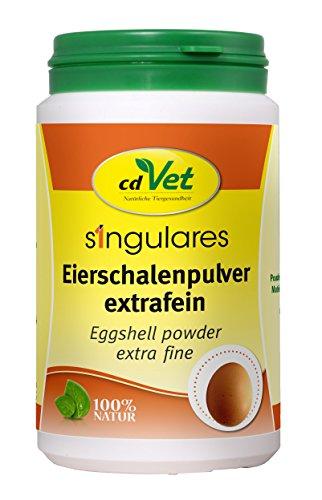 cdVet Naturprodukte Singulares Eierschalenpulver extrafein 300 g - Hund, Katze - Calciumquelle - bei Rohfütterung+knochenfreier Ernährung - bekömmlich bei Wachstum+Trächtigkeit+Laktation -