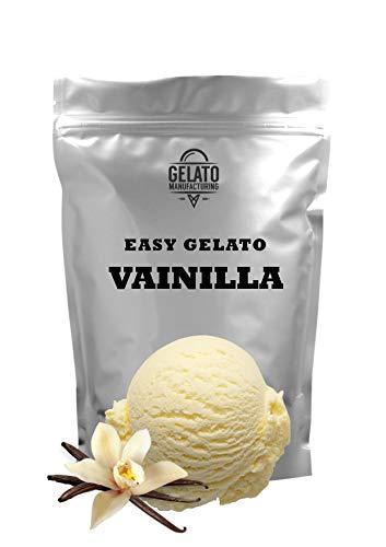 Base mix para helado de VAINILLA, con 1.4kg mix + 2.6lt leche se obtienen 5,5 litros de helado