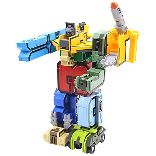 Robot di Deformazione Digitale Numero di Squadra, Robot di Deformazione Robot Building Block Robot, Istruzione Preschool Toy Learning Robot Puzzle Toys