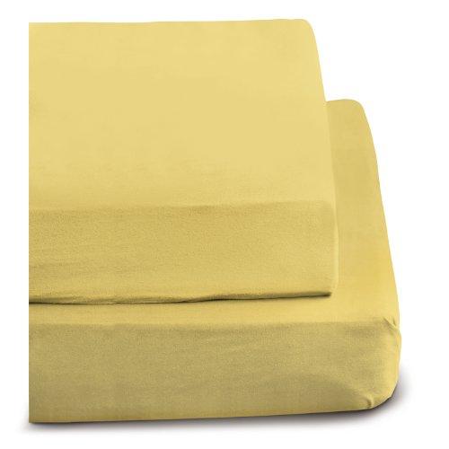 Sábana encimera amarilla, 150x250 cm