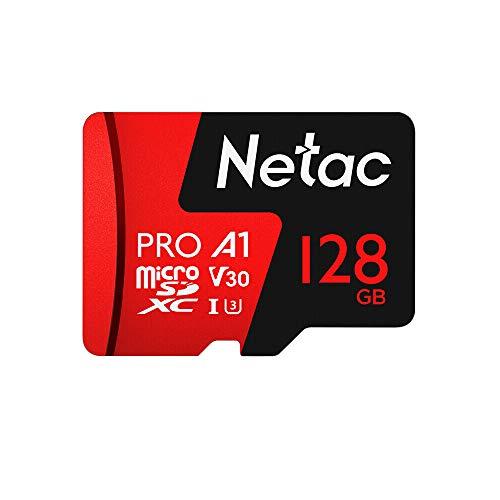 Docooler Netac 128 GB / 64 GB Pro Micro SDXC TF Karte Speicherkarte Datenspeicherung V30 / UHS-I U3 Hohe Geschwindigkeit bis zu 98MB / s