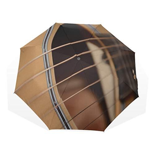 Paraguas Plegables Compactos Ligeros Guitarra eléctrica Ventiladores de música Paraguas artísticos 3...
