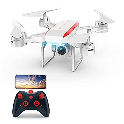 HUVE KY606D Drone With Camera For Kids And Adults, 1080p HD Foldable Drones Four-axis Aircraft RC RC Quadcopter With Real-time WIFI Transmission For Beginners Kids And Adults