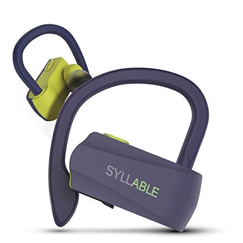 Kabellose Kopfhörer, Syllable Laufender Kopfhörer mit Mikrofon V 5.0 Sweatproof im Ohr HiFi-Stereo-Ohrhörer Bluetooth-Ohrhörer für Sport im Fitnessstudio 6 Stunden Wiedergabe