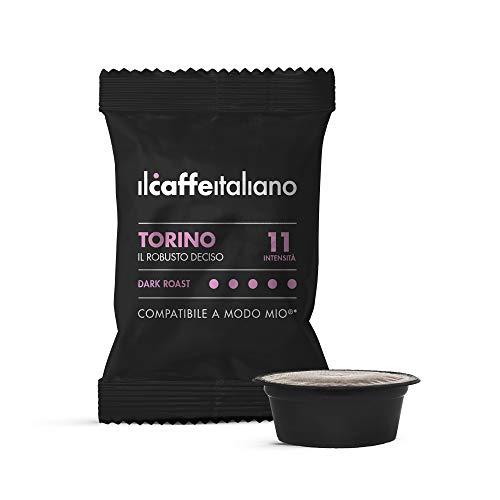 Il Caffè Italiano 100 Kaffeekapseln mit dem Lavazza A Modo Mio System kombpatible - Mischung Torino, Intensität 11