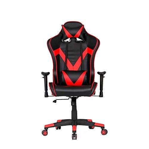 ZJN-JN Silla Silla de Oficina Silla de Juegos 360 ° de rotación y 160 ° de reclinación, Ajustable reposabrazos y Respaldo (Color: Color de Imagen, tamaño: 70X70X127CM)