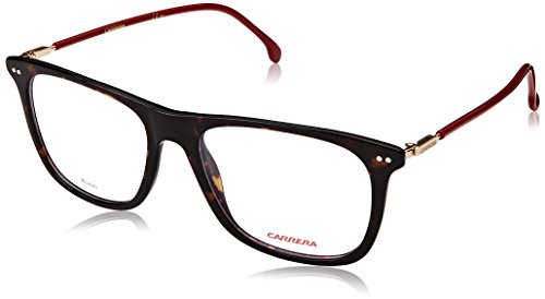 Carrera CA144/V Rectangular Prescription Eyeglass Frames, Tortise/Red/Gold, 52 mm