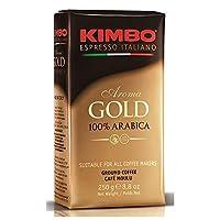 キンボ エスプレッソ粉 ゴールド [袋] 250g x 10袋 [イタリア/コーヒー/常温/003110/モンテ]