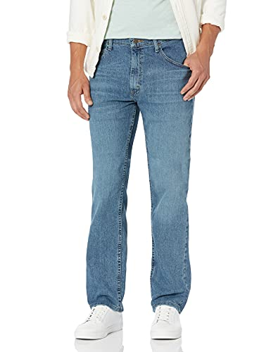 Wrangler Authentics Men's Classic 5-Pocket Regular Fit Jean, Vintage Blue Flex, 42W x 34L