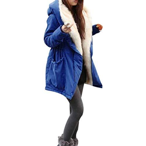 Saoye Fashion Chaqueta De Plumas Ladies Winter Warm Faux Fur Chaqueta Acolchada Ropa de Fiesta con Capucha Parka De Lana Gruesa Chaqueta con Capucha Blouson Street Moda Trench Jacket Outwear Chaqueta