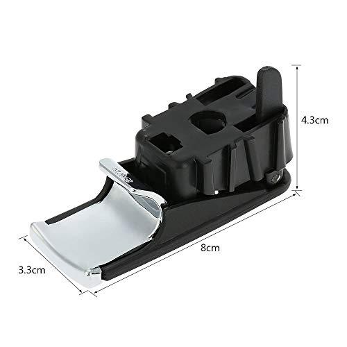 IJeilo Linkerhand Drive Chroom Handschoen Box Deksel Handvat Trekker met Slot Gat voor Audi A4 8E B6 B7 2001-2007 Auto benodigdheden