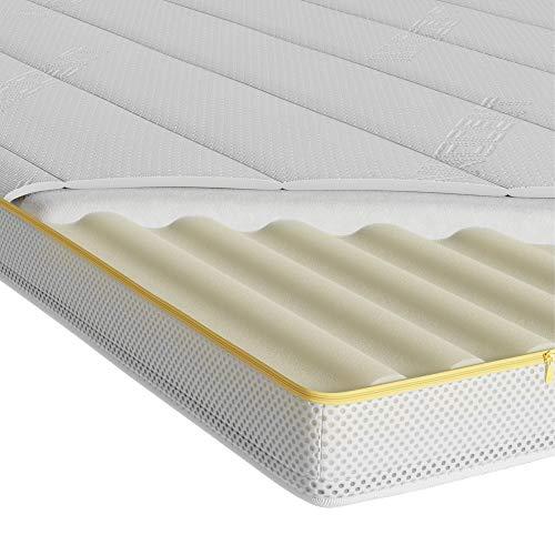 INNOCENT® 3D-Air Visco 7-Zonen Topper 300gm2 | 7cm Höhe | 180 x 200 cm | 3D-Air-Flow | Viskoelastische Matratzenauflagen 7cm Höhe | Memory Visco Foam Matratzenschoner | für Betten & Boxspringbetten