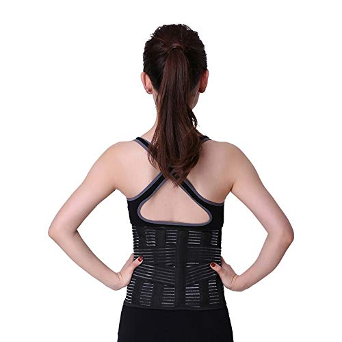 LSRRYD Back Support Belt Adjustable Neoprene Lumbar Support Belt Lower Back Lumbar Support Belt Brace For Pain Relief And Injury Prevention Color Black Size XL
