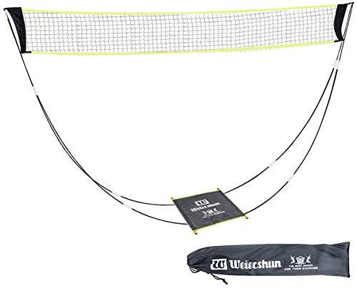 KIKILIVE Tragbares Badminton-Netz-Set mit Stand-Tragetasche,Volleyballnetz für den Indoor-Strandsport im Freien - in Sekundenschnelle auf jedem Untergrund aufstellbar