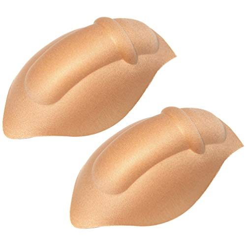 VALICLUD 2 STK. Unterwäsche Verbessernde Tasse Badehose Sicherheitsschwammmatte Unterwäsche Entlüftung Stereo Enhancer Insert Pad für Männliche Männer Hautfarbe