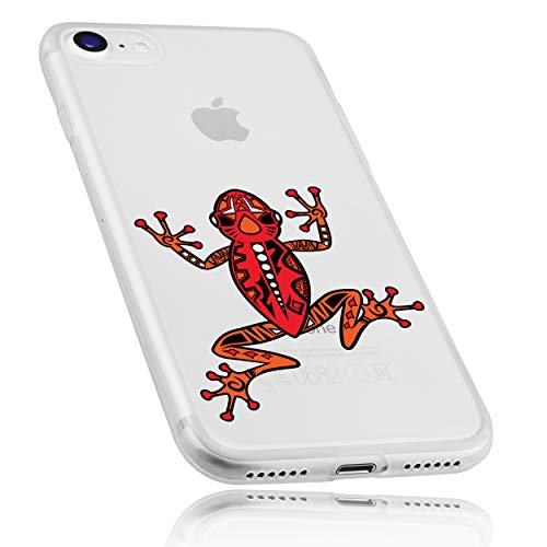 mumbi Hülle kompatibel mit iPhone SE 2 2020 / 7 / 8 Handy Hülle Handyhülle dünn mit Motiv Frosch, transparent