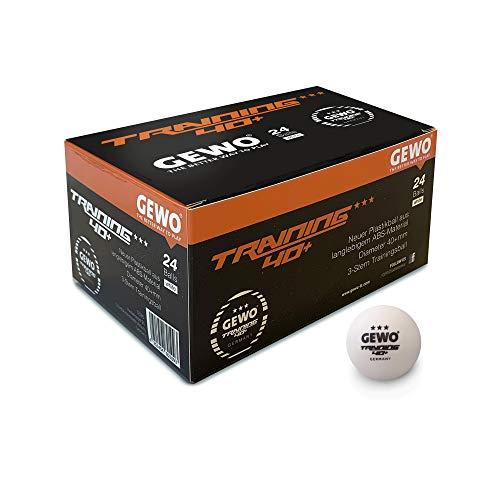 GEWO Sport-Tec - Balón de Entrenamiento (40 + 24 Unidades), Color Blanco