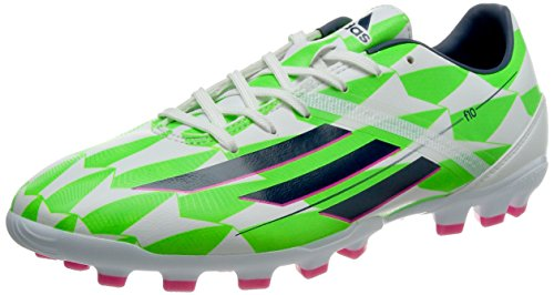 adidas Bota F10 TRX AG Core white-Rich blue-Solar green Talla 7,5 UK