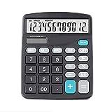 zyr Calculadora de Pantalla Grande de 12 dígitos Contabilidad financiera Inventario Claro Papelería de Oficina para el hogar, Negro