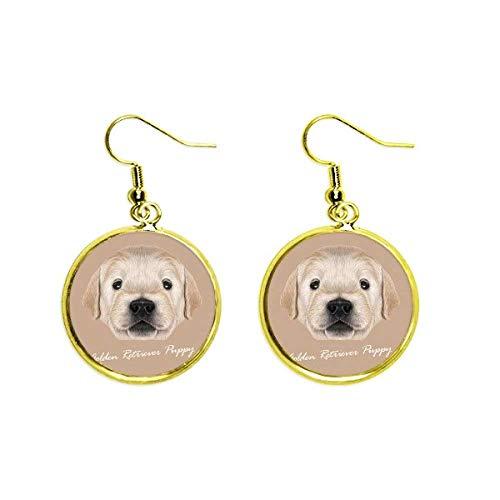 Pendientes de oro con forma de perro con forma de perro y orejas de animales para mujer