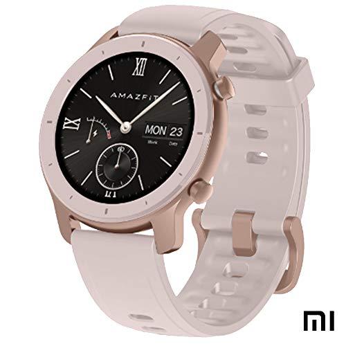 "Xiaomi Amazfit GTR Reloj Smartwatch Deportivo | 42mm | 18 días de batería | AMOLED de 1.2"" | GPS + GLONASS | Frecuencia cardíaca Continua de 24 Horas (Android 5.0 e iOS 10.0) – Cherry Blossom Pink"