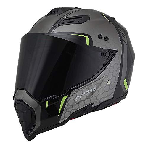 Woljay Off Road Helm Motocross-Helm Motorradhelm Motocrosshelme Fahrrad ATV (S, Black+Silver)