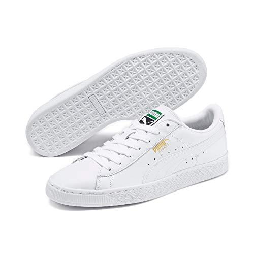 PUMA Unisex-Erwachsene Basket Classic LFS Sneakers, White-White, 40.5 EU