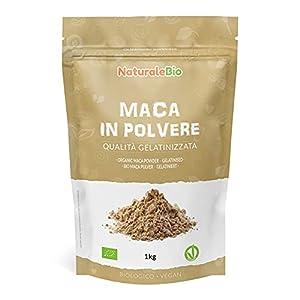 Maca Andina Ecológica en Polvo 1 kg. Organic Maca Powder Gelatinized. 100% Peruana, Bio y Pura, viene de raíz de Maca Organica - Gelatinizada - NaturaleBio
