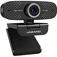 Unzano 1080P Full HD Webcam with Microphone