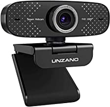 1080P Webcam with Microphone,Unzano Full HD Computer Camera for Streaming Conference Online Teaching, USB Web Cameras for ...