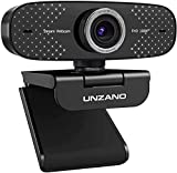 1080P Webcam with Microphone,Unzano Full HD Computer Camera for Streaming Conference Online Teaching, USB Web Cameras for Desktop, Mac, PC, Laptop, Zoom/Facetime/YouTube