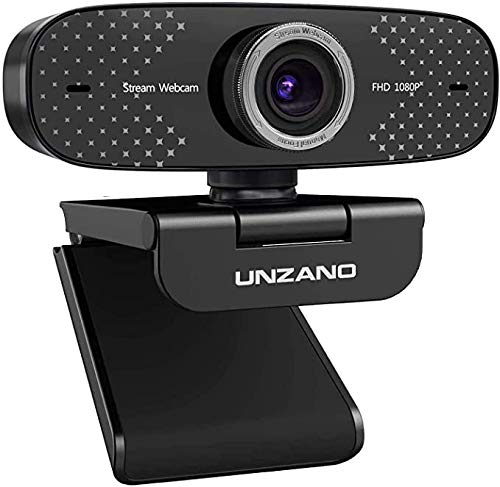 1080P Webcam with Microphone,Unzano…