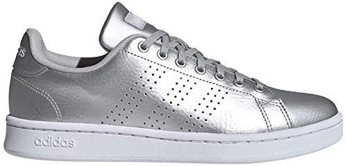 adidas Damen Advantage Tennisschuhe, Mehrfarbig (Matte Silver/FTWR White/Grey Two F17 Ee8197), 38 2/3 EU