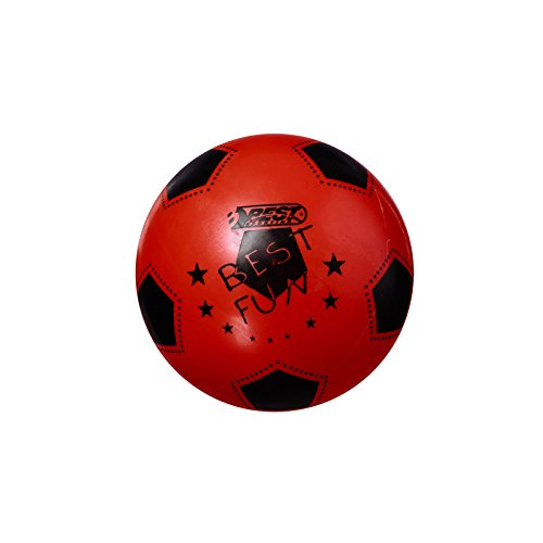 Best Sporting PVC-Ball Fun, 23 cm, Fußball Spielball Beachball Wasserball, rot