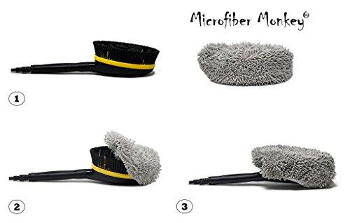 Microvezel borstelhoes geschikt voor Lavor hogedrukreiniger wasborstel (borstel niet inbegrepen)