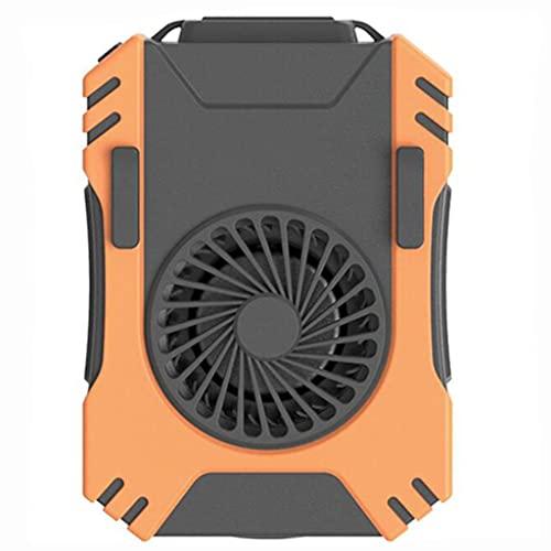 YYQXR Ventilador de Cintura Multifuncional, Mini Ventilador de Cintura Personal portátil Recargable USB, con 3 velocidades, 5000 mAh, 3 W LED, SOS, Banco de energía y Otras Funciones