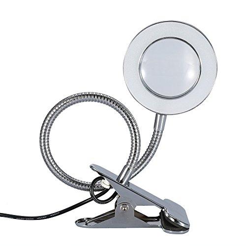 Lámpara LED de tatuaje, lámpara de lupa 2,5 x, brazo largo flexible, lámpara de lectura, para maquillaje semipermanente, tatuaje de uñas, lectura y trabajo