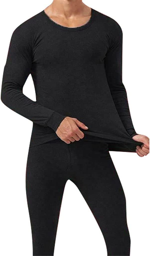 GYZCZX Men Seamless Elastic Thermals Inner Wear Solid Color Warm Slim Underwear for Winter (Color : A, Size : One Size)