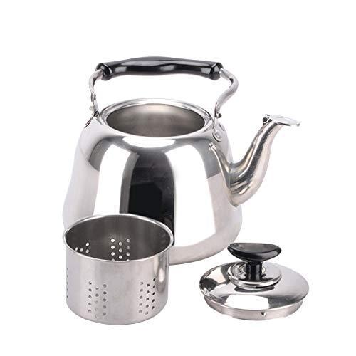 PETSOLA Edelstahl Pfeife Wasserkocher Pfeifkessel Gasherd Wasserkessel mit Kunststoffgriff - 1L