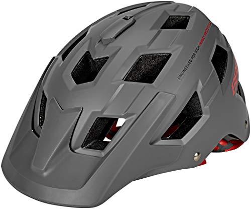 BBB Cycling Fahrradhelm Nanga Für Mountainbikes BHE-54, matt Grau/Rot, 30.6, M