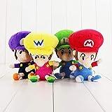 dingtian Juguete de Peluche 4 Pcs Mario Bros Peluches Bebé Mario Luigi Wario Waluigi Muñecas Rellena...
