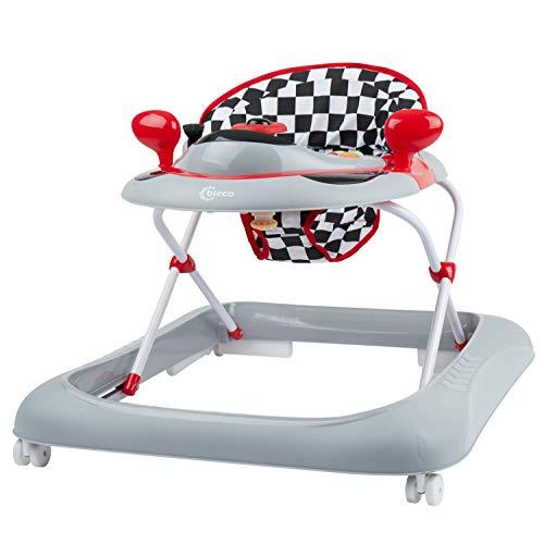Bieco girello auto - Attività Tilt-resistente Play Centre con volante, melodie e altezza regolabili corno come Walker, raccomandato come un camminatore, da 6 mesi, Artnr 19.000.807