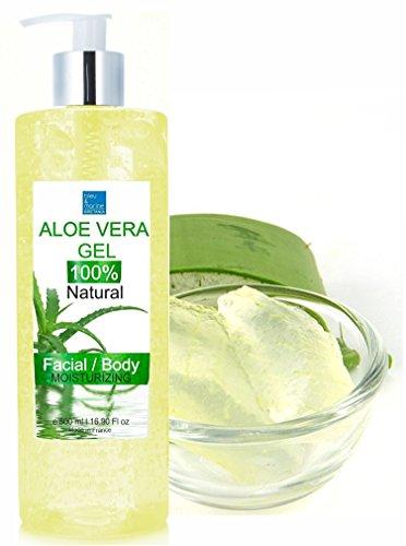 100% Natural Gel de Aloe Vera Puro de Canarias Hidratante Rostro Cuerpo Dispensador 500 ml - DEPILACIÓN - Acondicionador Gel Cabello -Ultra Concentrado Puro Después del Sol