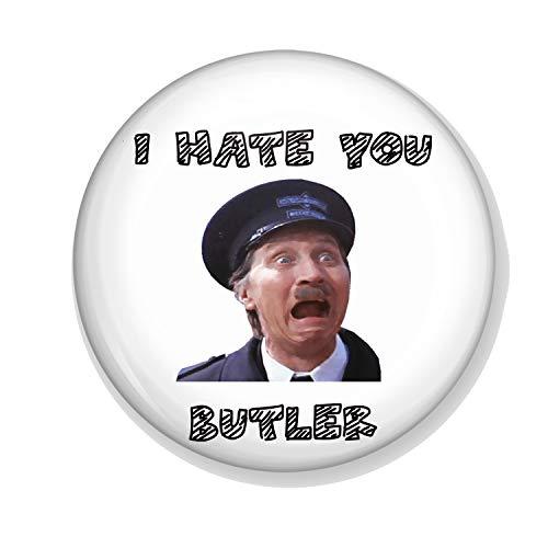 Gifts & Gadgets Co. I Hate You Butler Untersetzer, rund, harter Rückseite, 90 mm