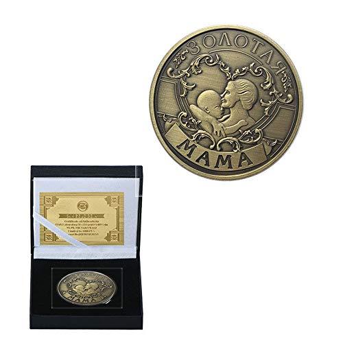 Rusia Día de la Madre Mamá Bebé Padre-Hijo Moneda Alivio Monedas Conmemorativas de Los Niños de Bronce de Cobre Medallas Refinamiento/Plata/Redondo