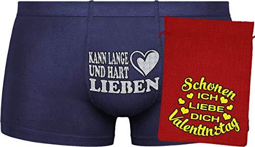 Herr Plavkin Geschenk für den Menschen | Kann Lange und hart lieben | Ostern | orange Boxershorts & Gold Bag ''Ostern''
